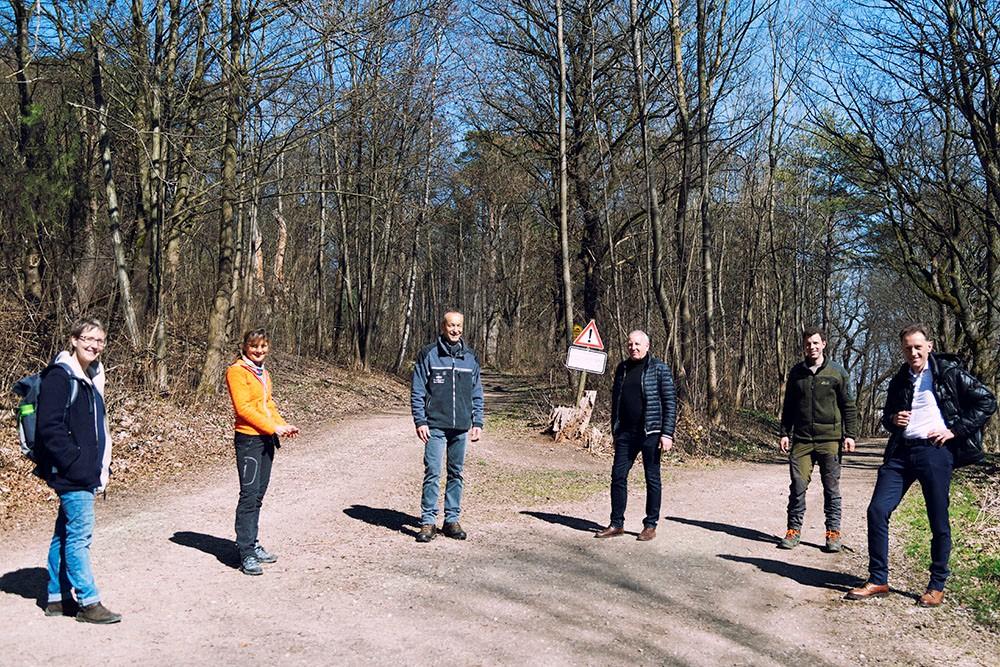 Im Bild von links: Nina Leinmüller, Barbara Dangel, Max Wittlinger, Winfried Walter, Tobias Gloeggler, Thomas Kienle